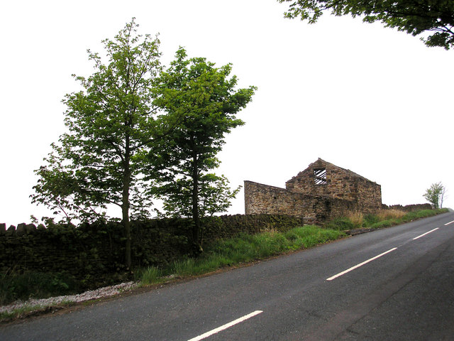 Ruined barn, Lothersdale Road, near Glusburn, Yorkshire