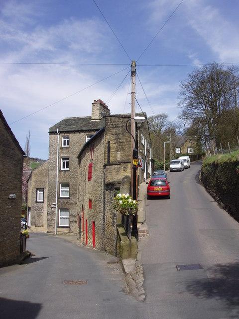 Steep lane at Luddenden