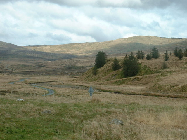 View up the Afon Gain valley