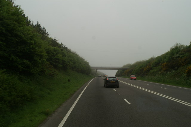 The Gwithian Road bridge over the A30
