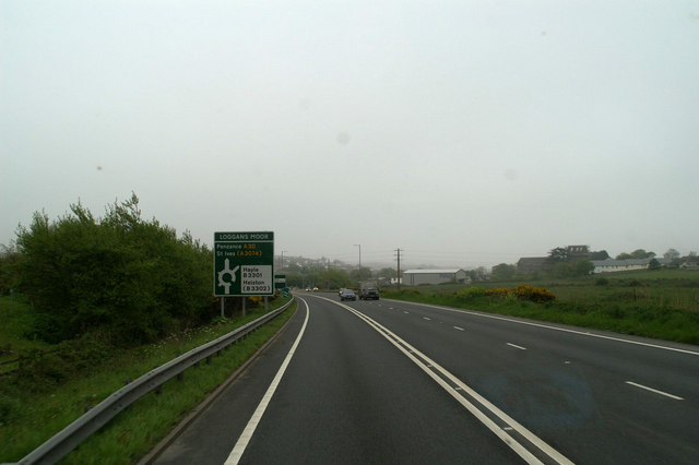 The Hayle turning on the A30