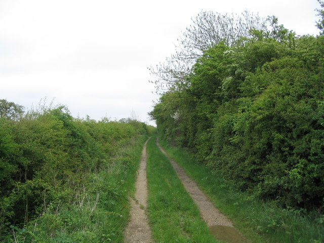 Track bordering the South Witham Nature Reserve
