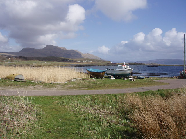 Jetty by the shop, Kilchoan Bay