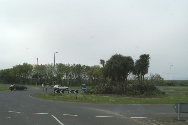 The A394 Marazion by-pass meets the A30