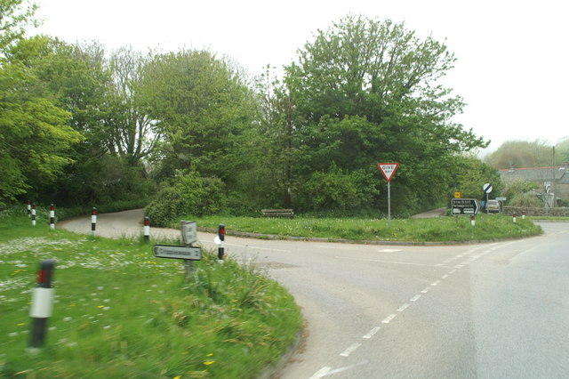 The turning to Cripplesease on the back road to St. Ives