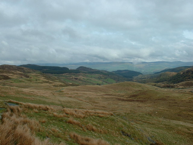 View down the Afon Lliw valley