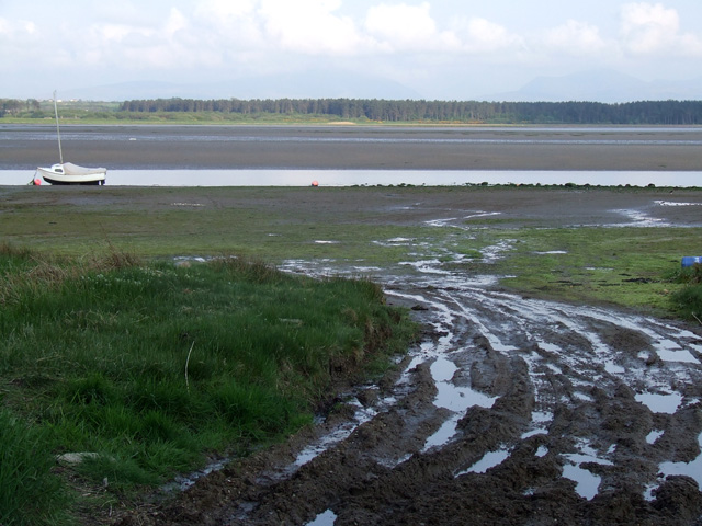 Muddy track on the estuary