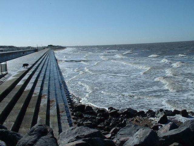 Sea wall at Hunstanton.