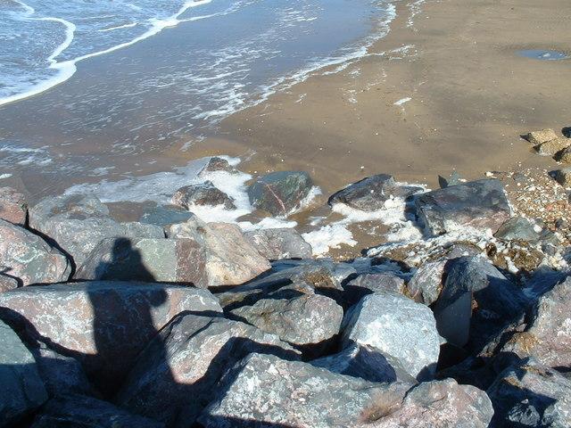 Sea defences at Hunstanton.