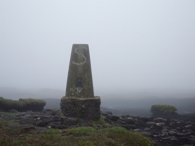 Featherbed Moss Trig Pillar, 541metres