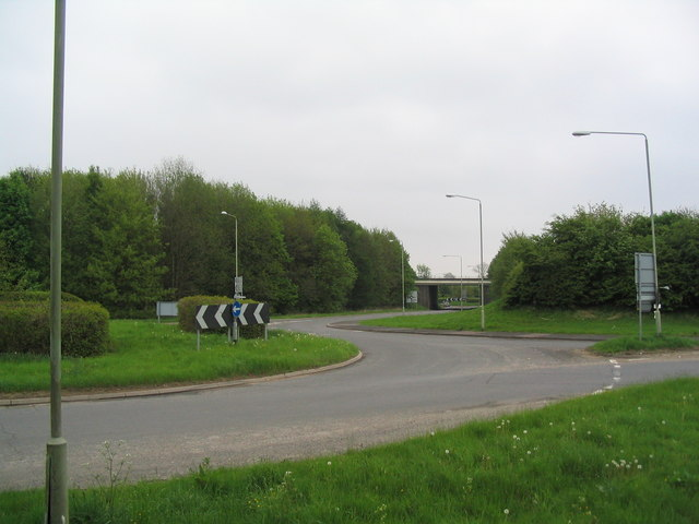 A1 junction near Stretton