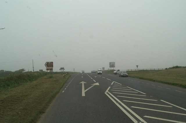 The Newlyn East and Holywell roads off the A3075