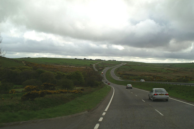 On the A30, approaching Jamaica Inn