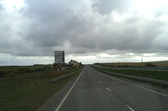 The road to Warleggan from the A30