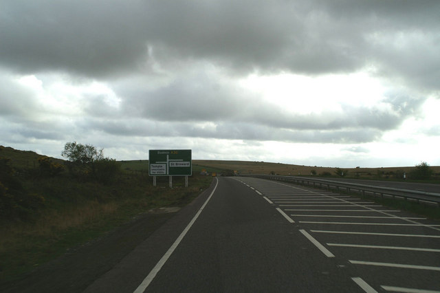 Temple and St. Breward turnings off the A30