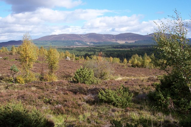 Whitewell, Barrie and Baird memorial cairn; Kincardine Hills