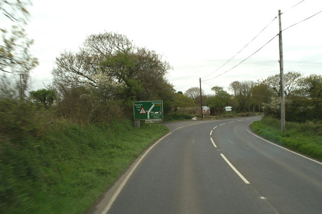 Junction at White Cross on the A392