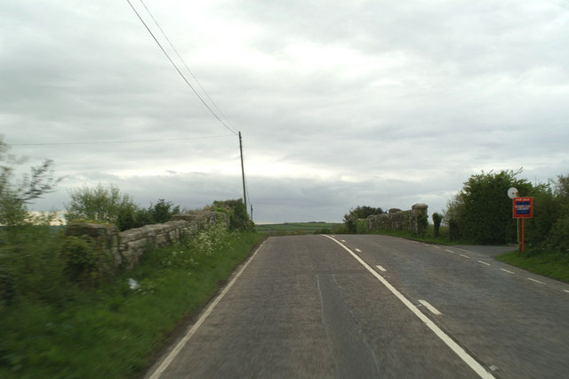 The bridge over the railway on the A392 at Quintrell Downs