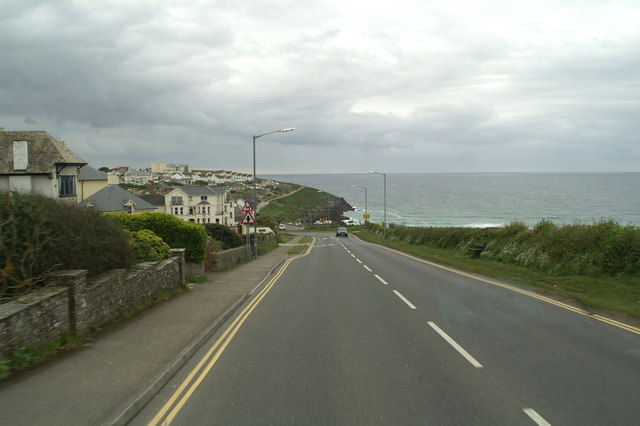 Fistral Beach top road