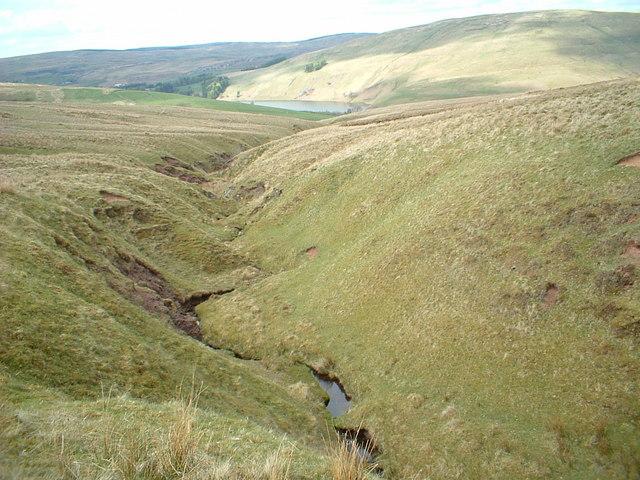 Red Burn, Glenbuck Loch visible behind