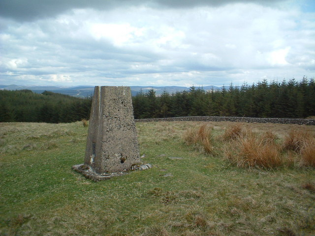 Trig point on Parishholm Hill