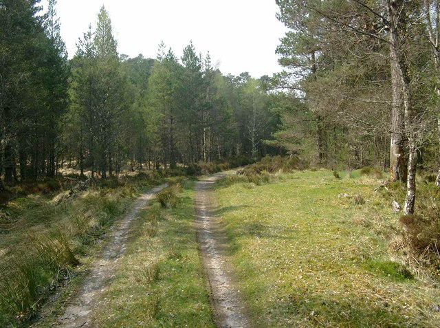 The track along the south side of Loch Beinn a Mheadhoin