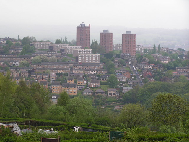 Flats & Suburban estate in West Sheffield