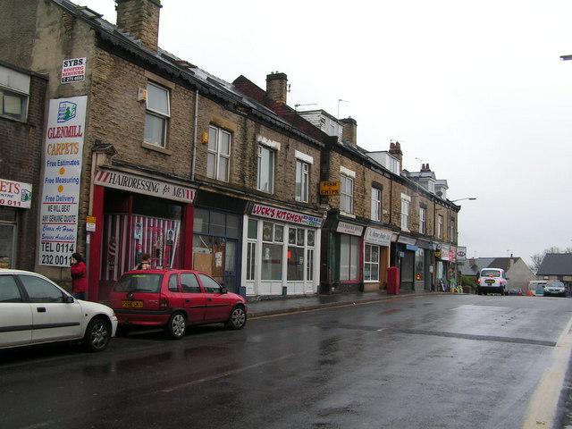 Shopping parade in Walkley