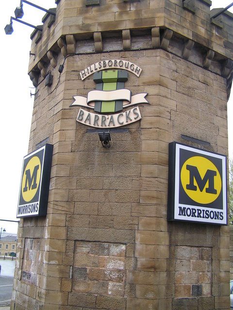 Entrance to Hillsborough Barracks