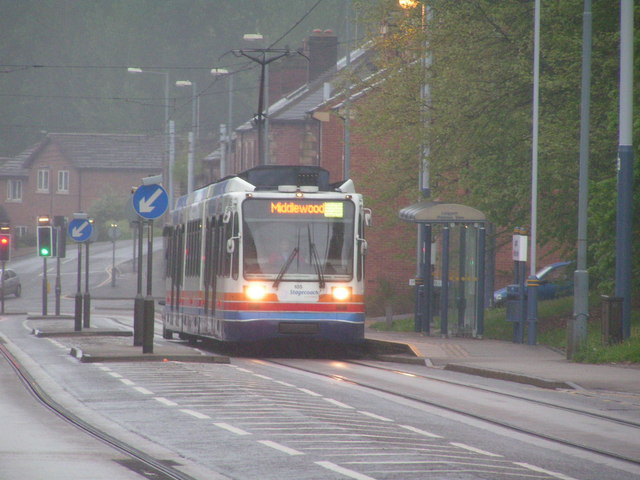 Tram on Langsett Road