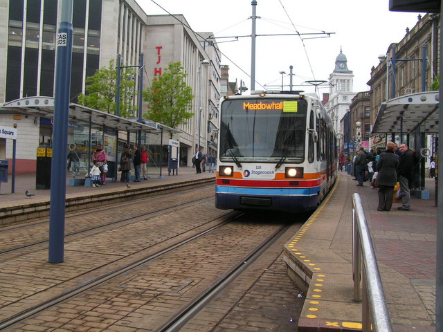 Tram at Castle Square Tram stop