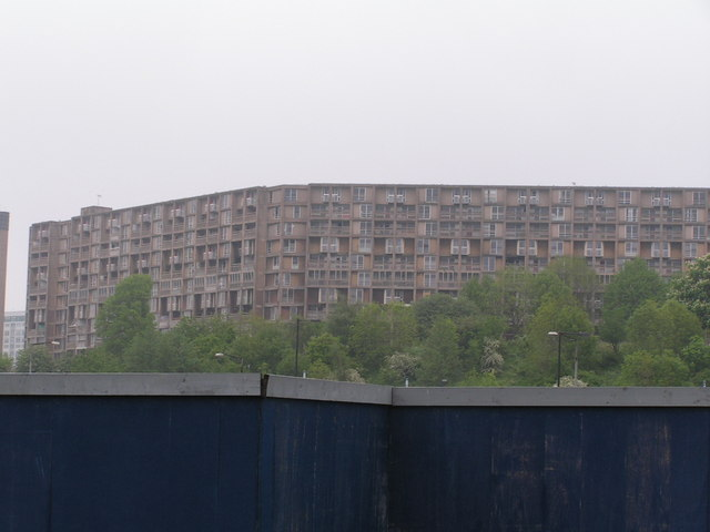 Flats overlooking the railway station