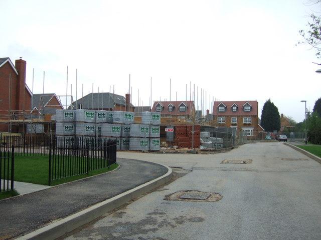 Construction site, Hampden Hall near Bedgrove