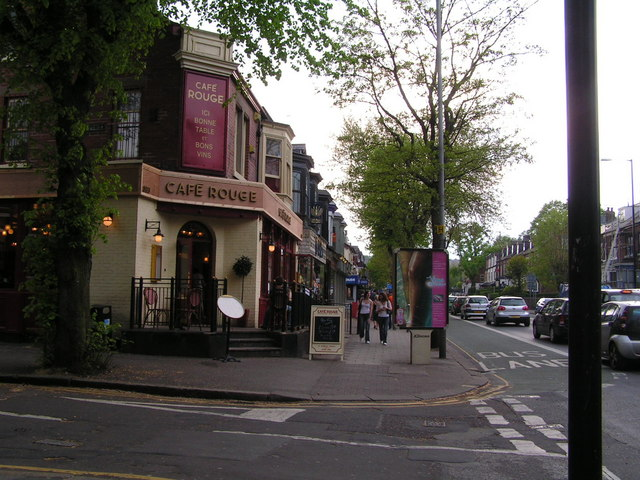 Shops along Ecclesall Road