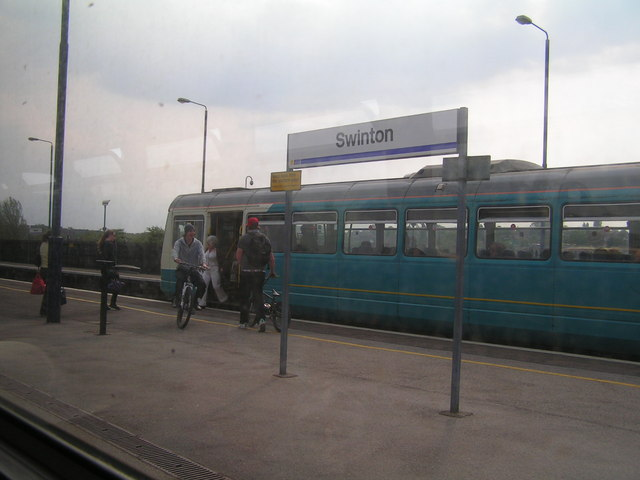 Train at Swinton Station