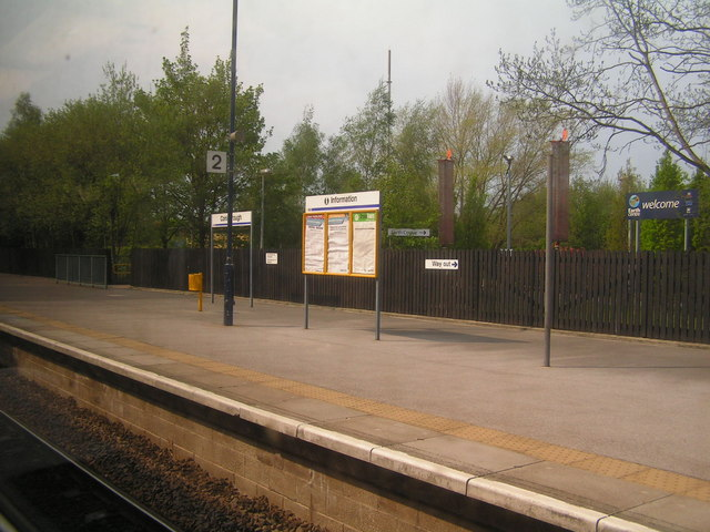 Platform at Conisbrough Station