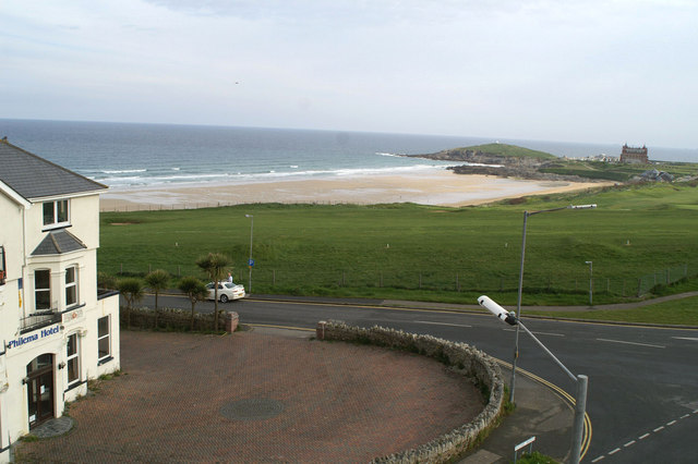 North-Northwest from the Fistral Bay Hotel