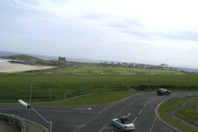 North-Northeast from the Fistral Bay Hotel