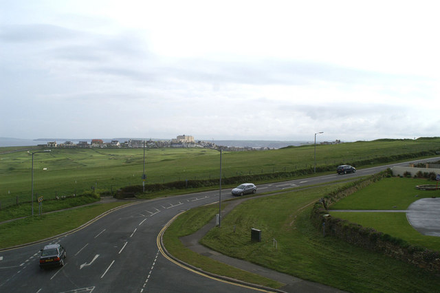 Northeast from the Fistral Bay Hotel