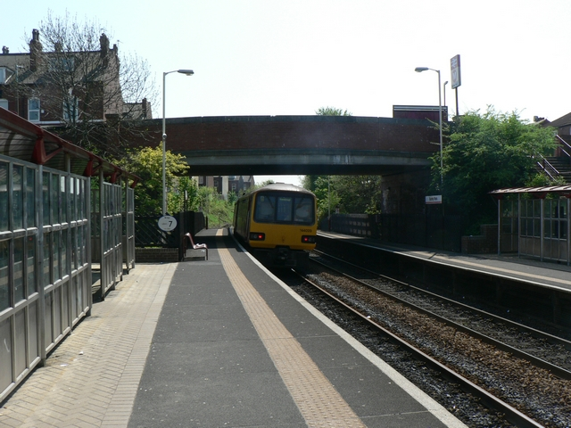 East platform, Burley Park Station, Headingley