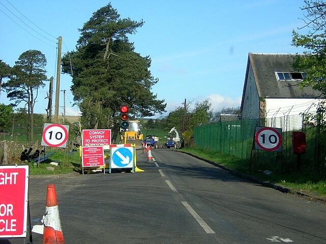 Road Excavations near Langhill Farm
