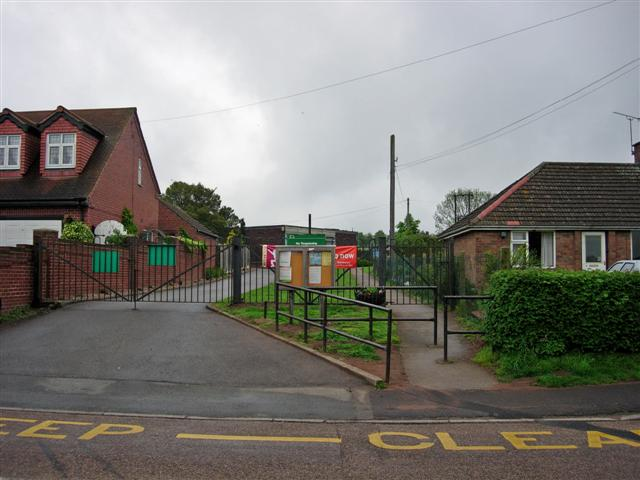 Entrance to Ranby CE Primary School