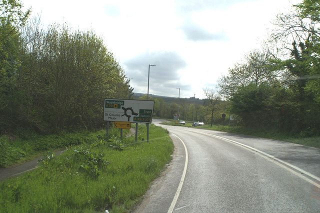 End of the St. Columb Major by-pass