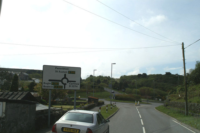 The B3274 meets the A391