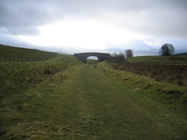 Course of former railway approaching Kirkhaugh