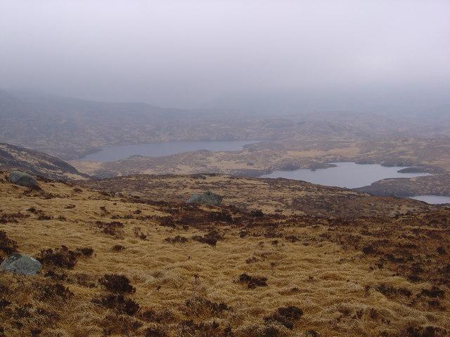Round Loch of Glenhead and Long Loch of Glenhead