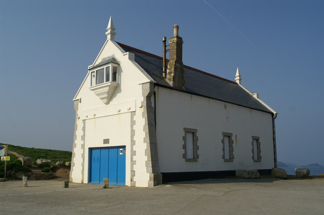 The old lifeboat house by Spy Cove