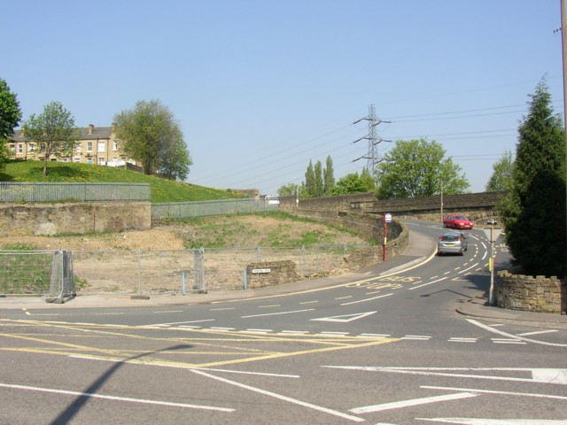 Bottom end of Thornhill Road, Rastrick