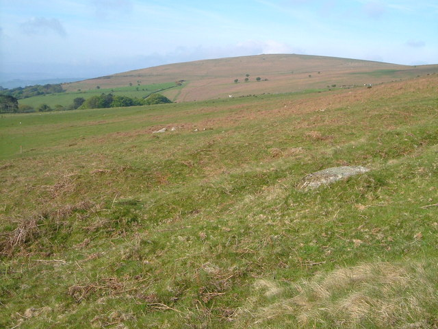 Western Beacon from Wrangaton Moor