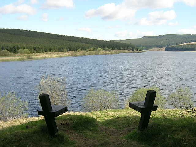 Viewpoint at Carron Valley Reservoir